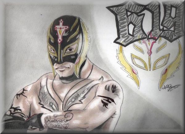 Rey Mysterio por atelierduhardcore